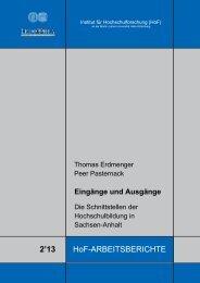 Pasternack, Peer (2013): Eingänge und Ausgänge - WZW ...