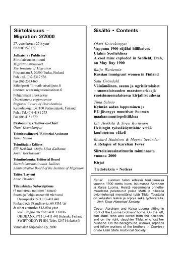 2000 - 2 - Siirtolaisuusinstituutti