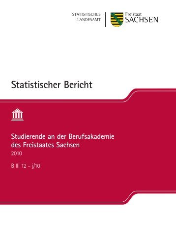Statistischer Bericht Studierende an der Berufsakademie des ...