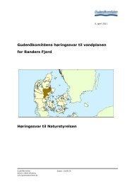 Gudenåkomitéens høringssvar til vandplanen for ... - Gudenåkomiteen