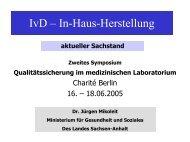 IvD – In-Haus-Herstellung - INSTAND eV