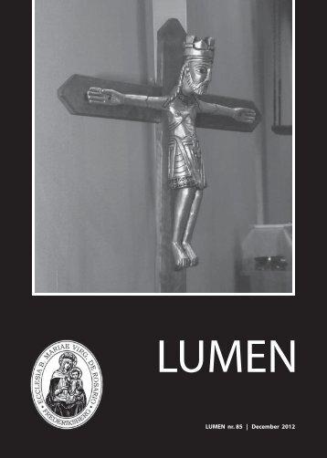 1 LUMEN nr. 85 | December 2012 - Sankt Mariæ Kirke