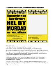 Aktion i Malmö till stöd för de fängslade journalisterna - Mynewsdesk