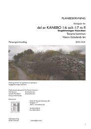 del av KANEBO 1:6 och 1:7 m fl - Tanums kommun