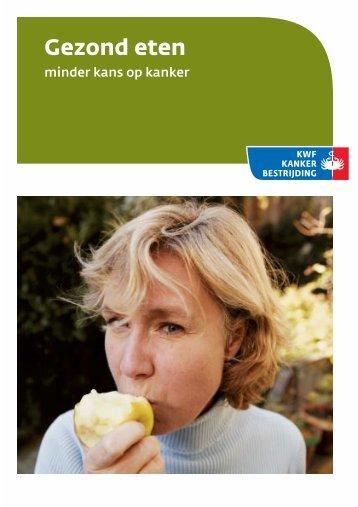 Gezond eten - KWF Kankerbestrijding