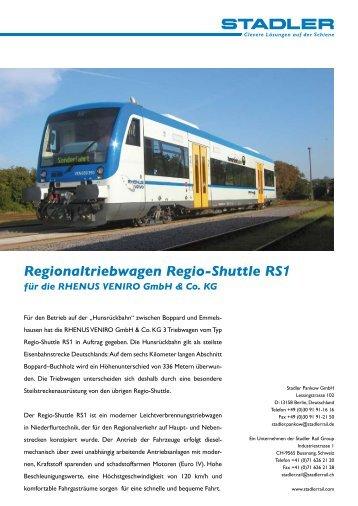 Regionaltriebwagen Regio-Shuttle RS1