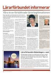 Infosidan nr 20 2012 - Lärarförbundet