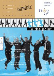To the point - ISO-point