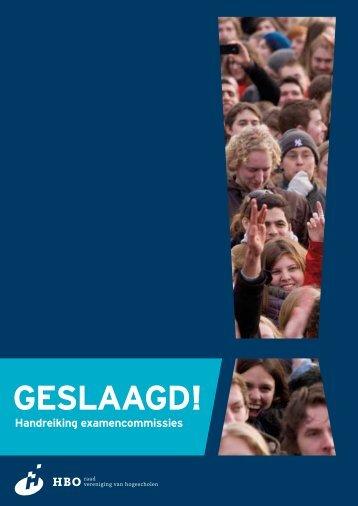 Handreiking examencommissies - Vereniging Hogescholen