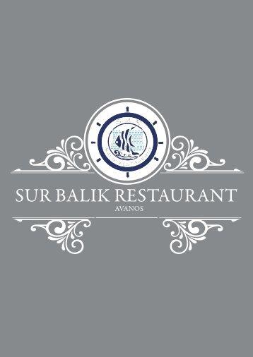 yemek listemiz - Sur Balık Restaurant
