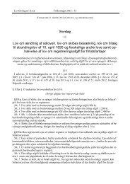 Forslag til Lov om ændring af søloven, lov om skibes ... - Net