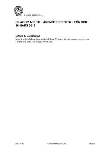 Bilagor till årsmötesprotokoll 2013-03-16 - Svenska Collieklubben