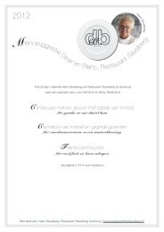 Hotel Restaurant Savelberg 2012 (pdf) - Diner en Blanc® Nederland