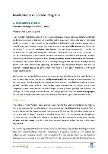Mentorship-project bij de Rechten - UGent - Steunpunt Diversiteit en ...