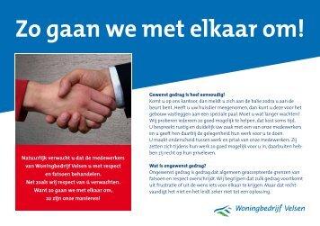Zo gaan we met elkaar om! - Woningbedrijf Velsen