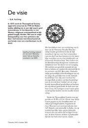 De visie.pdf - Theosofische Vereniging in Nederland