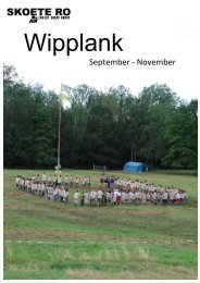 Wipplank September - November - Scouts Rode