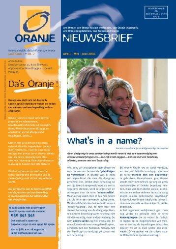 N° 2 What's in a name? - Oranje