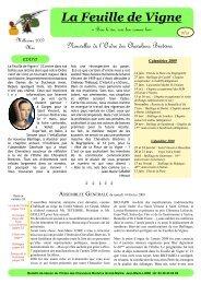Télécharger la feuille de vigne N°23 - Ordre des Chevaliers Bretvins