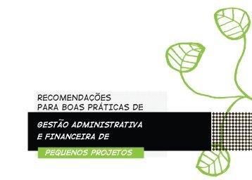 BoAs práticAs de Gestão FinAnceirA - ISPN