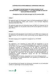 Reglement voor aansluitingen elektriciteit - laagspanning - Sibelgas