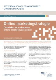 Online marketingstrategie - Rotterdam School of Management