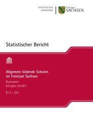Allgemein bildende Schulen - Statistik - Freistaat Sachsen