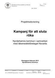 Utvärdering rökslutarstöd 2010 - Nynäshamns kommun