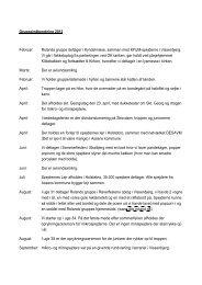 Gruppeindberetning 2012 Februar: Rolands gruppe deltager i ...