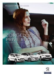 Peugeot Private Lease - PSA Finance Nederland