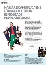 här är skandinaviens första och enda renodlade pappamagasin!