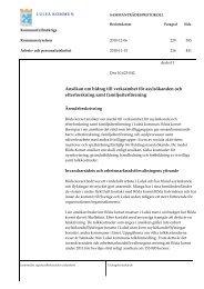 Ansökan om bidrag till verksamhet för ... - Luleå kommun