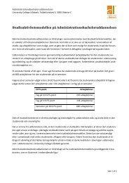 Studieaktivitetsmodellen - University College Lillebælt