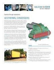 GEOTHERMAL CONDENSERS - Balcke-Dürr