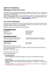 Algemene Vergadering Maandag 27 mei 2013 om 14 uur - Sabam