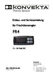 Montage und Serviceanleitung FR4 - Konvekta