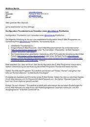 Thunderbird 3 vs. E-Mail bei t-online
