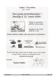 """Den jyske forårsklassiker"""" Søndag d. 21. marts 2004 - Taulov Motion"""