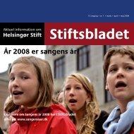 År 2008 er sangens år! - helsingoerstift.dk
