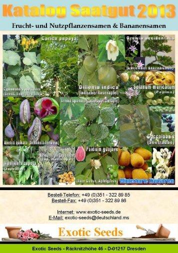 Frucht- und Nutzpflanzensamen