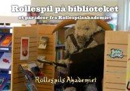 Rollespil på biblioteket - Rollespilsakademiet