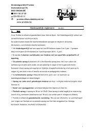 huishoudelijk reglement kdv - Prutske