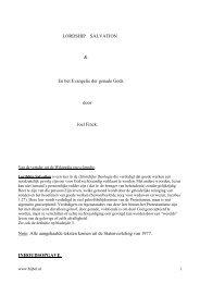 LORDSHIP SALVATION & En het Evangelie der genade Gods - Bijbel