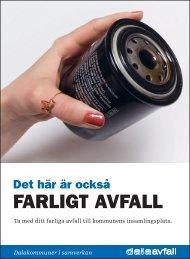 FARLIGT AVFALL - Dalaavfall