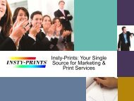 Insty-Prints: Your Single Source for Marketing & Print Services