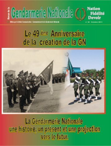 de la Gendarmerie Nationale