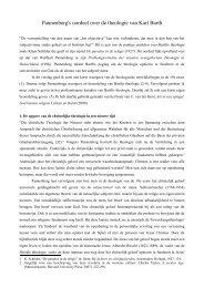 Wolfhart Pannenberg en C. van der Kooi over ... - Bart van Egmond