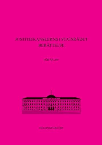 Justitiekanslerns berättelse för år 2007