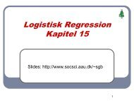 Logistisk Regression Kapitel 15