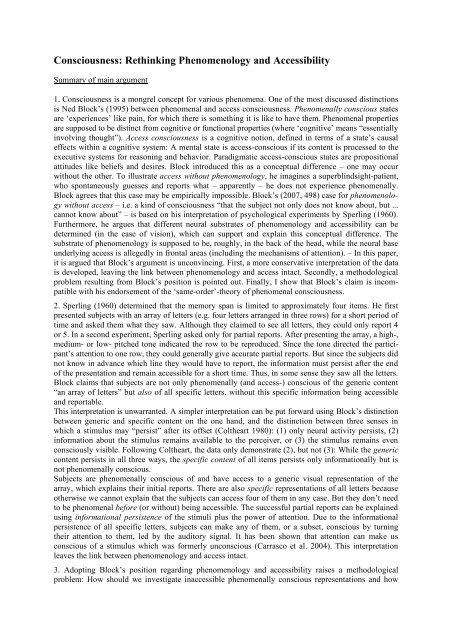 Genf 2009 Longer Summary